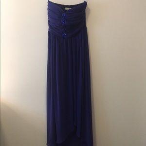 ya Los Angelas Purple Hi-Low Dress